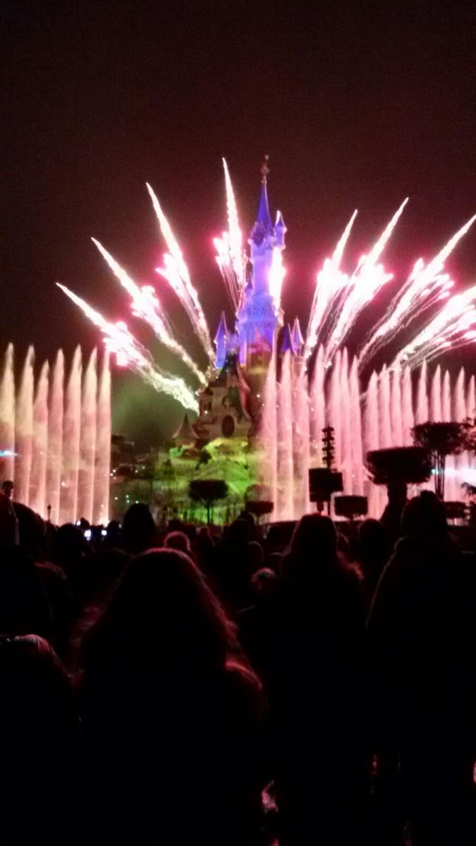 Disney light show and fireworks